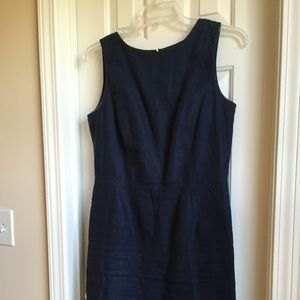 Brooks Brothers Navy Linen Dress